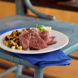 Grilled Steak and Corn Salsa